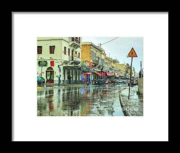 Urban Rain Framed Print By Eleni Mac Synodinos