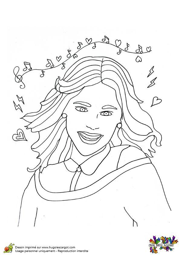 Le joli portrait de Violetta à colorier.