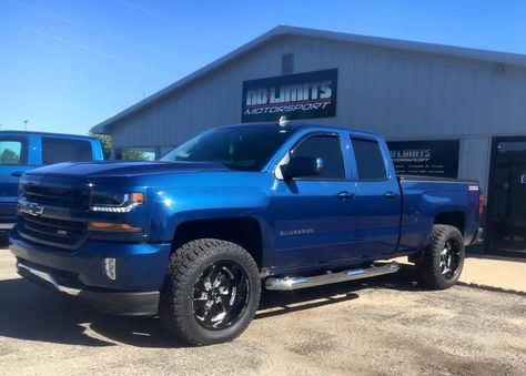 "2016 Chevy Silverado with a Zone leveling kit, 20"" Fuel Turbo wheels, and Toyo A/T II tires. No Limits Motorsport - Plainwell, MI. (269) 225-1111"