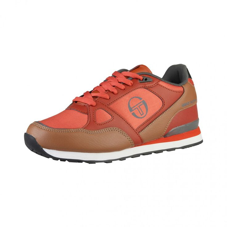 Sergio Tacchini - Chaussures de tennis basses à lacets - empeigne en cuir synthétique - double stitching - semelle intérieure rembourrée en tissue - semelle en caoutchouc  - interne: tissu size 8-12