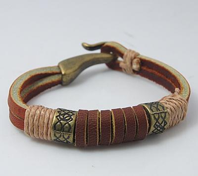 Leather Braid Strands Bracelet Suede Rope Bracelet…