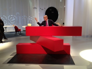 Knoll Design Director Benjamin Pardo Speaks To Press About The 04 Counter,  Shown Here At