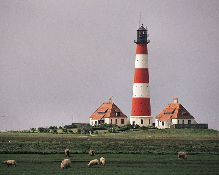 Lighthouse, Westerhever, Schleswig-Holstein, Germany