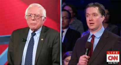 'I'm not concerned about your income': Watch Bernie blast a Trump-backing businessman over corporate greed