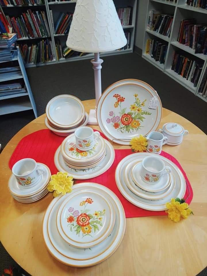 31-piece Mastercraft dish set. 🏵️ $49.99  · · · · ·  #nonprofit #giveback  #thriftshoppingdoneright #somethingalwaysonsale #helpingchildrenandfamilies #shop  #GrandRapids #gr  #bethanysthriftstore #thisisbethany   #boutique #homedecor #thriftdiy #love #style #thrifter  #upscaleresale #sale #thriftlife #thrifters  #thriftfinds #shopsmall #dishes #noritake #livingroom #display #design #home #homedesign #flowers