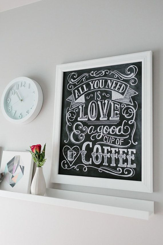 Gift for mom coffee lover gift coffee shop sign Gifts for kitchen lovers