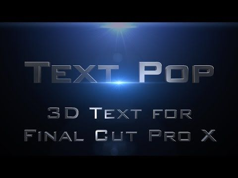 Text Pop for Final Cut Pro X - YouTube