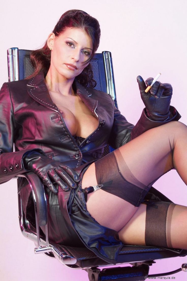 82 Best 021 Smoking Mature Lady Leather 01 Images On -2270