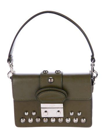 096b4fd38dc2 Red Valentino Smooth Leather Stud Satchel
