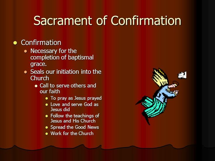 confirmation sacrament Edit article how to request the sacrament of confirmation confirmation is 1 of the 7 sacraments in the catholic church according to the catechism of the catholic church (ccc), which is the official doctrine of the church, confirmation is when confirmands receive the holy spirit and are considered full members of the catholic church.