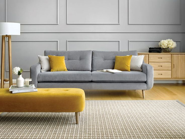 Alfredo Extra large sofa with retro flair. Choose from a great range of on trend accent fabrics to create a personalised look perfect for your home.
