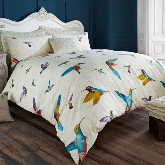 Humming Bird Duvet Cover With Pillowcase Quilt Bedding Set In All Size King