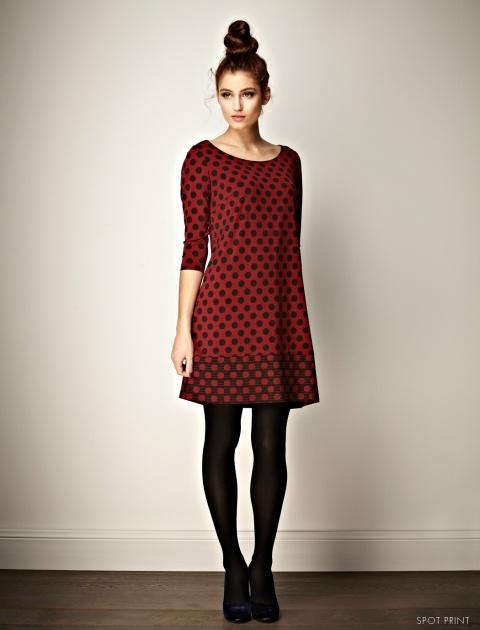 Tessa Spot Print by Leona Edmiston. Black tights and flats or pumps... perfect Autumn dress.