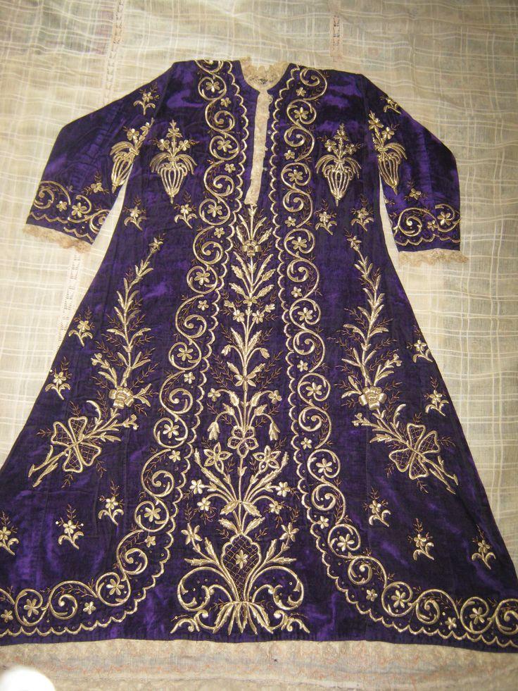 ipek kadife  ince iş bindallı elbise