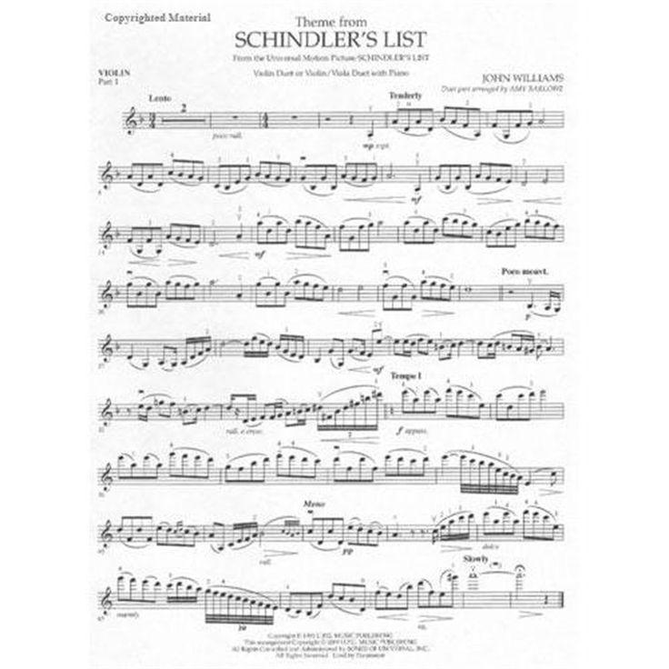 schindlers list violin sheet music - Google Search
