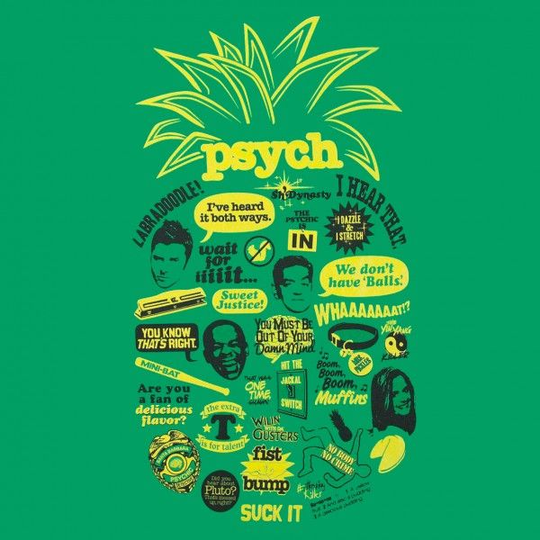 Psych Quotes Shawn Psych-pineapple-quote-mash-up- ... #catshirt - See more Cat T-shirt Designs at Catsincare.com!