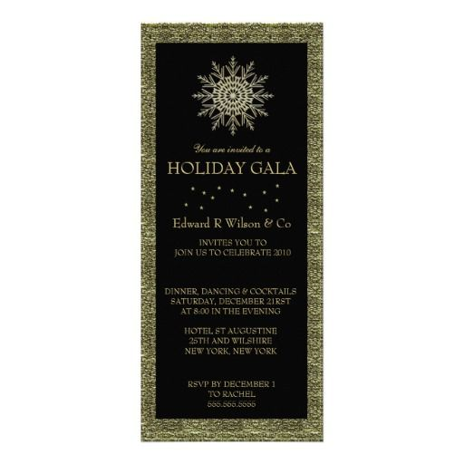 21 best elegant holiday party invitations images on pinterest elegant holiday party invitations black and gold stopboris Image collections