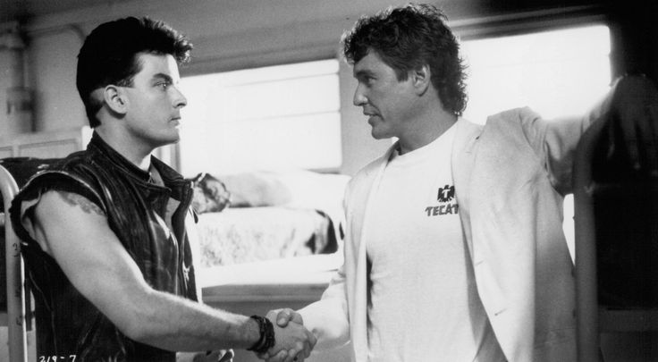 Still of Charlie Sheen and Tom Berenger in Major League (1989)…