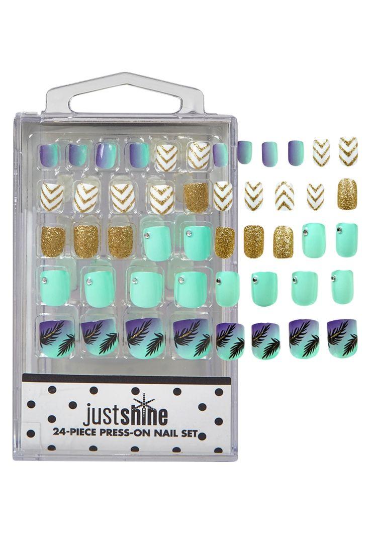 Just Shine Summer Fun Press On Nails