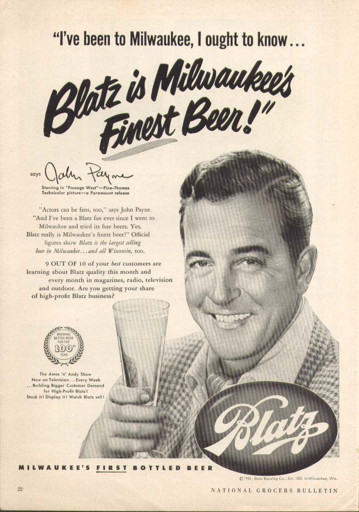 0 John Payne for Blatz beer ad 1951