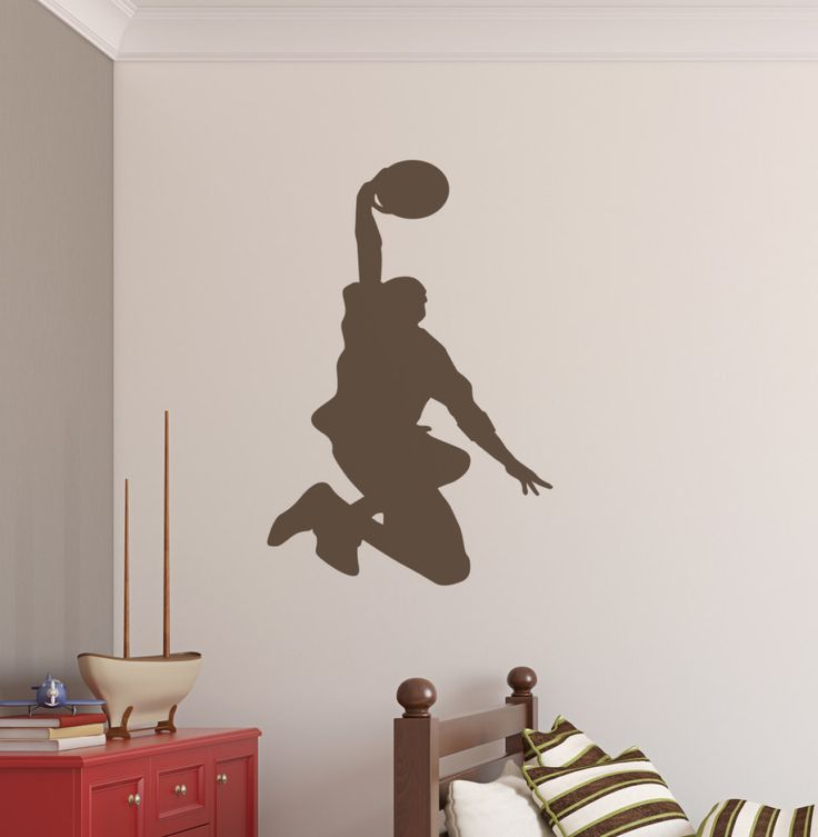 This is the perfect vinyl wall decal for the basketball player in your home.  Our wall stickers are easy to apply.  Get yours here: https://www.etsy.com/listing/398319195/basketball-dunk-wall-art-decal-vinyl