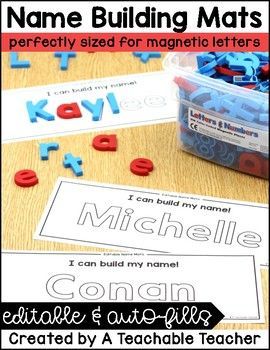Quickly and easily create custom magnetic letter name mats for your students with these editable magnetic letter mats! This is perfect for name practice as students use magnetic letters to build their name over the mat. What do I need? *Class List *Adobe Reader (free program)