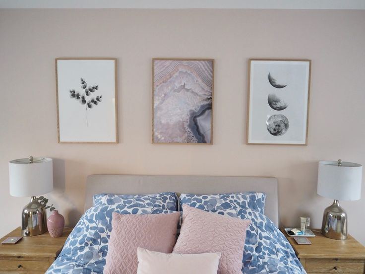 A Beauty Junkie in London Pink and Grey Bedroom Makeover Reveal