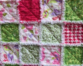 Items similar to Custom, Twin Size, Flannel Rag Quilt on Etsy