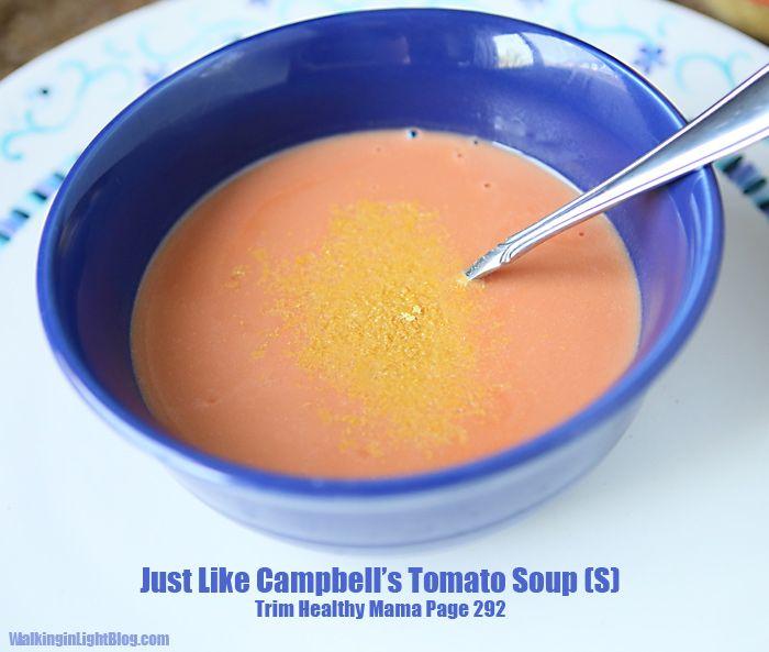 trim healthy mama, tomato soup, healthy