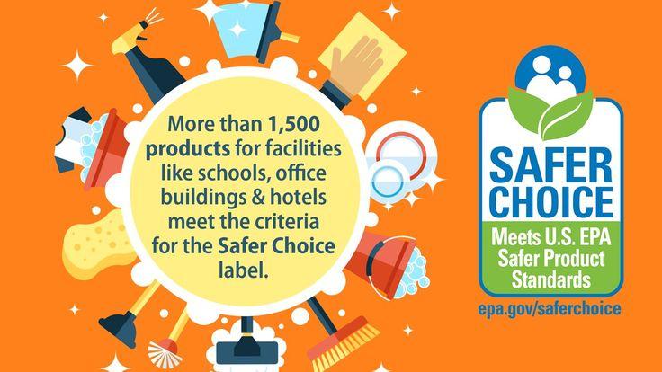 #BacktoSchool is here! #EPASaferChoice label helps schools find prod w/safer ingredients.