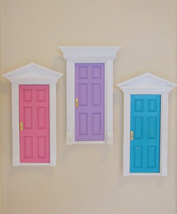 Tooth fairy doors just use the doll house door from the for The little fairy door