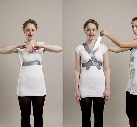 hacer maniqui casero ropa cinta