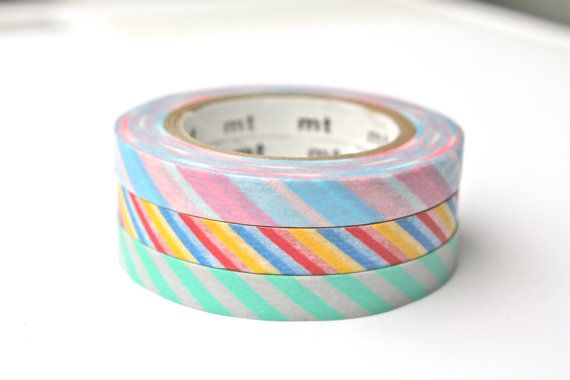 Hey, I found this really awesome Etsy listing at https://www.etsy.com/listing/206623235/thin-washi-tape-slim-mt-stripes-washi
