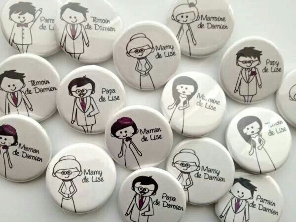 Badges mariage