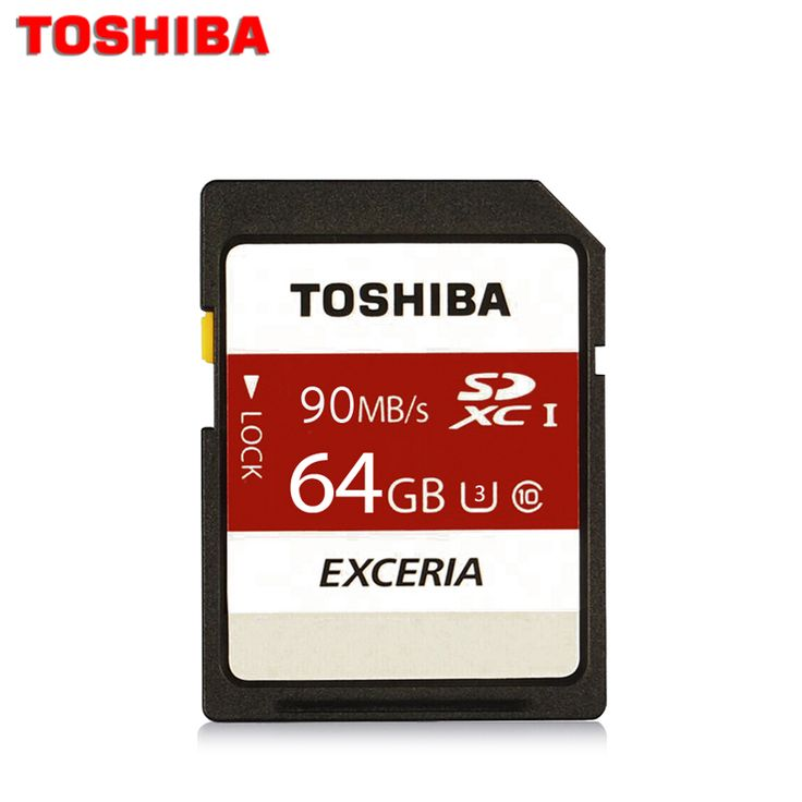 Toshiba Real 64gb class 10 SD card UHS-1 U3 90MB/S 64GB SDXC flash TF Memory Card micro SD card for camera Reader Plastic Case