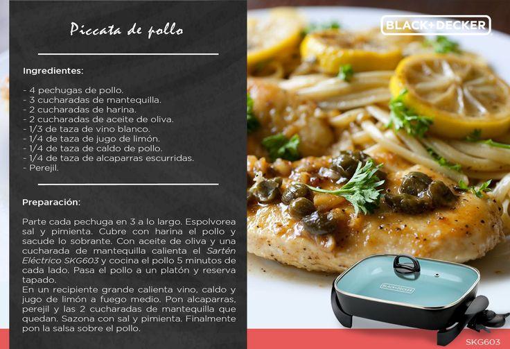"""Sorprende a tu familia con una comida muy a la italiana, ¡Piccata de pollo! """"Buon appetito!"""" #RutaDelSaborBD #Italia"""