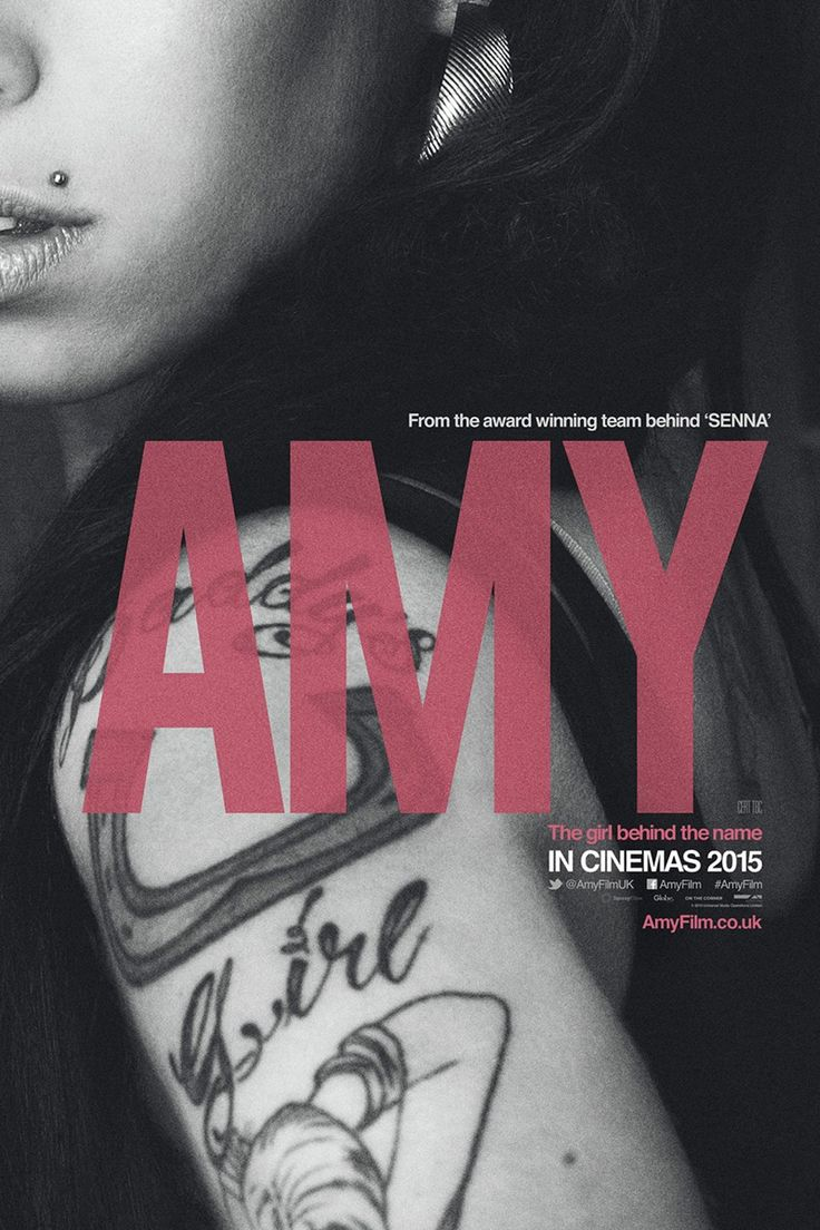 """Amy - Asif Kapadia 2015 -- """"The incredible story of 6-time Grammy winner Amy Winehouse - in her own words. Featuring extensive unseen archival footage & previously unheard tracks, this strikingly modern, moving, & vital film shines a light on our culture and the world we live in today."""""""