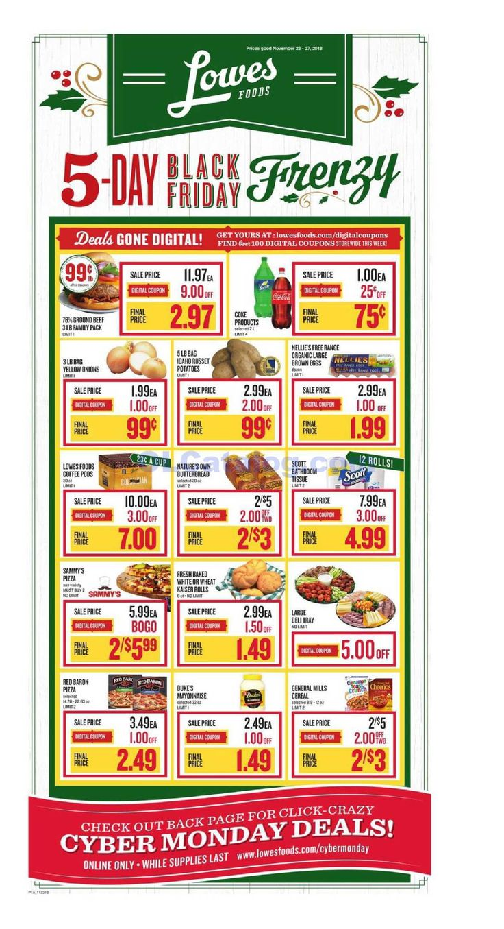 Lowes foods Weekly Ad November 23 27, 2018. View the
