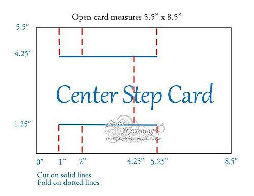 Stair Step Card Guide  @Jewel Easterling - here is the tutorial!!