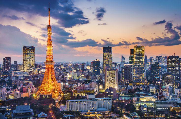 Pôr do Sol em Tóquio, Japão