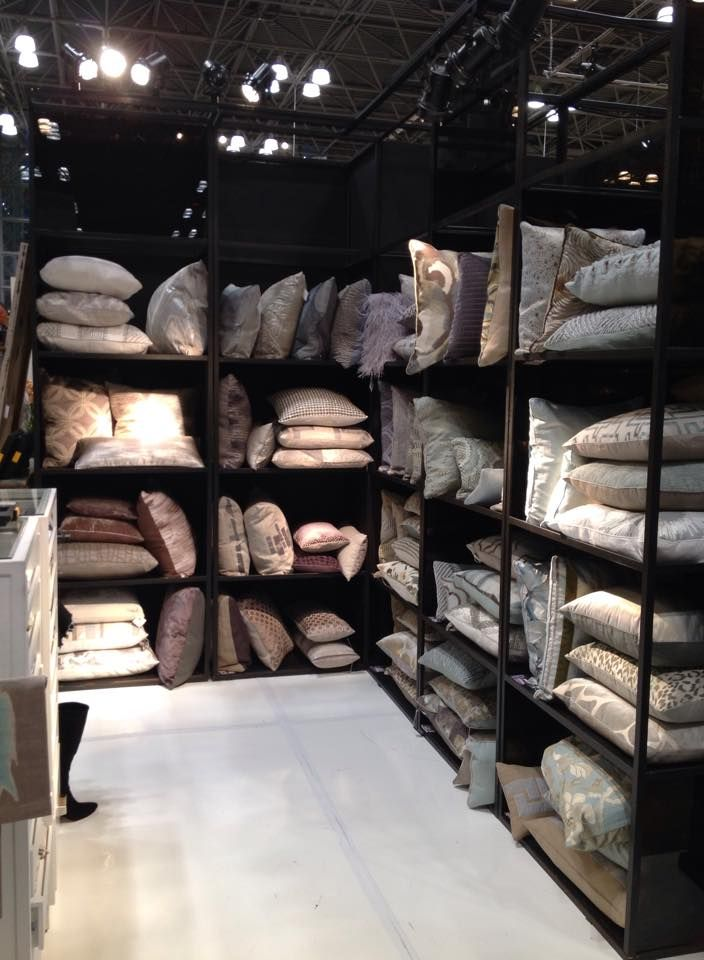 Some of our fabulous pillows on display at the NY NOW Home Show!