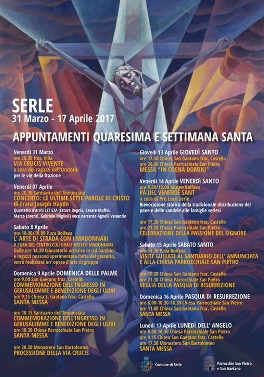 Appuntamenti Quaresima e Settimana Santa a Serle  http://www.panesalamina.com/2017/54538-appuntamenti-quaresima-e-settimana-santa-a-serle.html