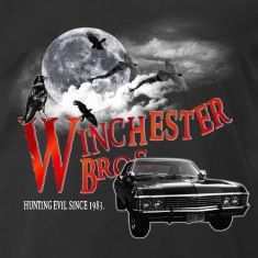 Winchester Bros Hunting Evil Since 1983 1967 chevrolet impalaT-Shirts.