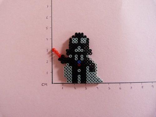 Star Wars Darth Vader hama beads mini by Soledad Hernandez