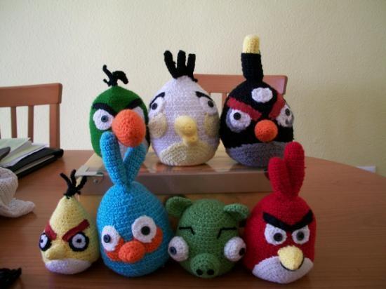 Cerdo Angry Birds Amigurumi : Familia de angry birds elaborados a mano con la tecnica ...