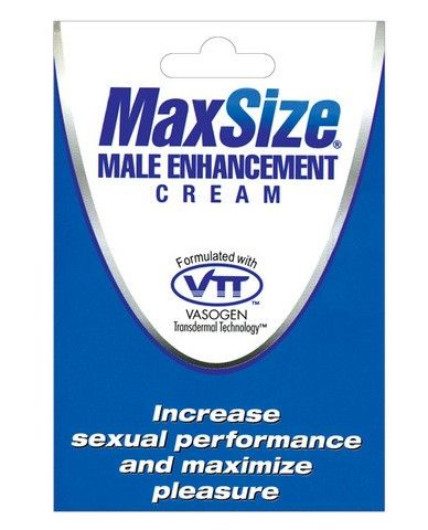 Max size male enhancement cream - individual packet Max Size Male Enhancement Cream is a male enhancement topical formula that provides a unique transdermal delivery system for quick absorption and immediate results. Max Size Cream is the only topical male enhancement product with Butea Superba, a well-documented enzyme responsible for enhancing erectile response.