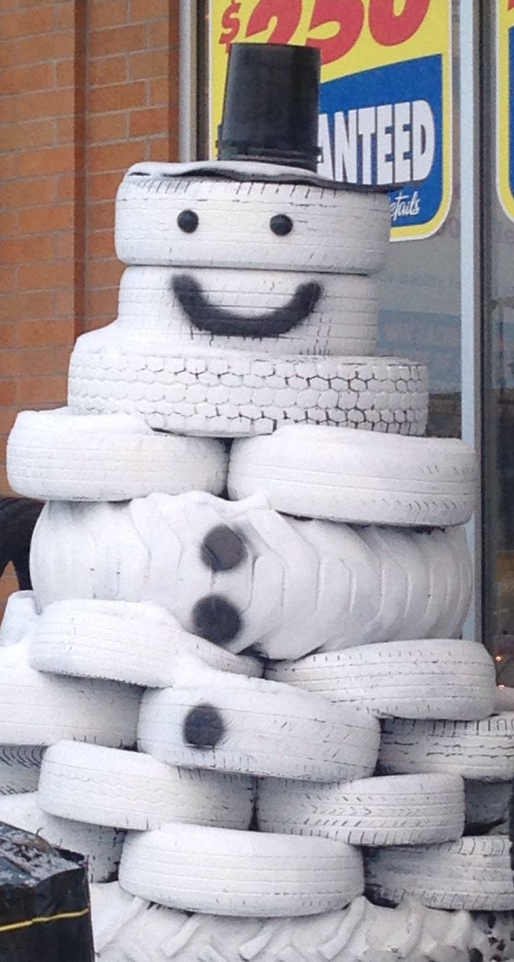 1000 images about reuse recycle tires on pinterest for Snowmen made from tires