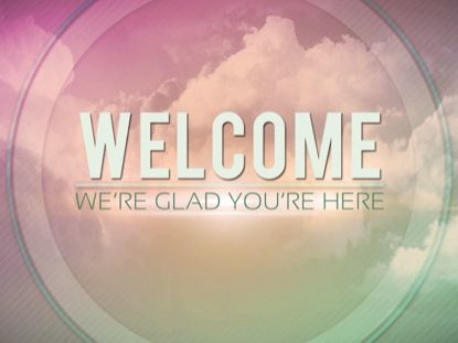 free church welcome powerpoint backgrounds slide
