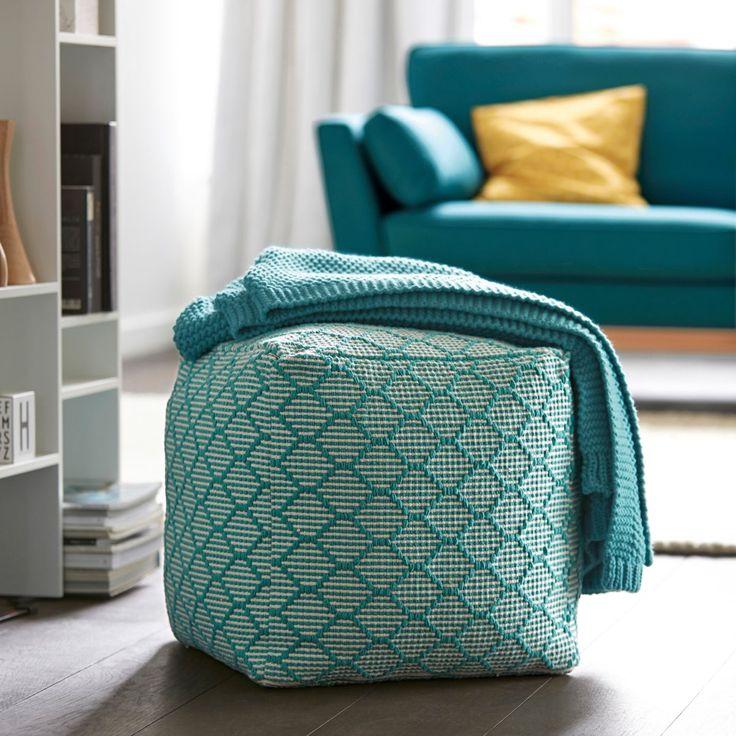 les 25 meilleures id es de la cat gorie pouf carr sur pinterest pouf tuft table basse pouf. Black Bedroom Furniture Sets. Home Design Ideas