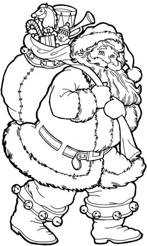 Printable Santa Coloring Pages PDF For Kids - Coloringfolder.com